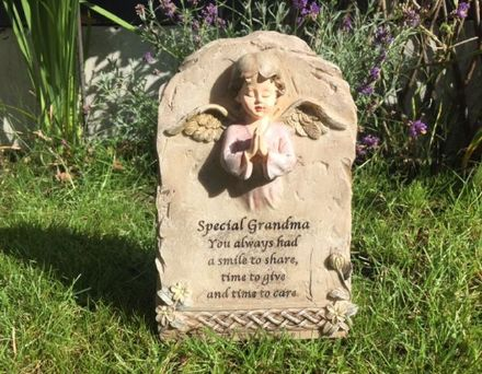 Special Grandma ~ Angel Cherub Graveside Memorial Ornament